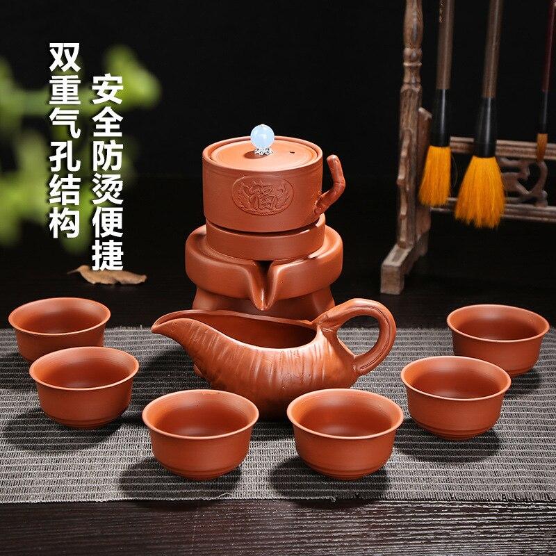 Semi Automatic Ceramic purple clay Tea Set, Exquisite Chinese kung fu tea set,ceramic home tea setSemi Automatic Ceramic purple clay Tea Set, Exquisite Chinese kung fu tea set,ceramic home tea set