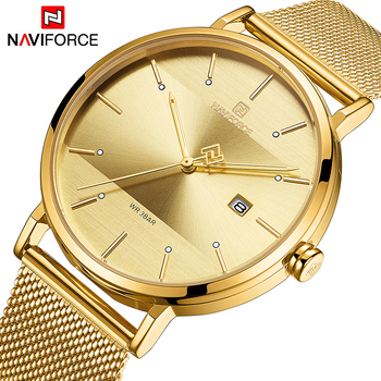 NAVIFORCE 3008 Top Brand Luxury Men Quartz Watches Men's Steel Waterproof Casual Date Clock Male Wrist Watch with box