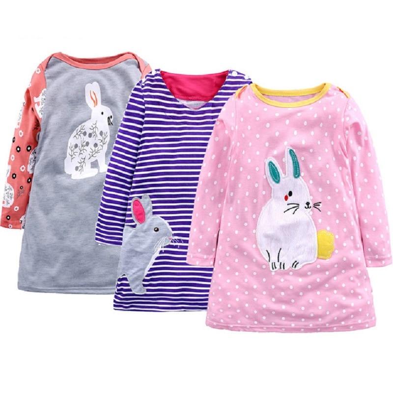 Girls Dress Robe Princesse Enfant Fille Dress Girls Rabbit Print Dresses Children Clothing Costume for Kids Clothes in Dresses from Mother Kids