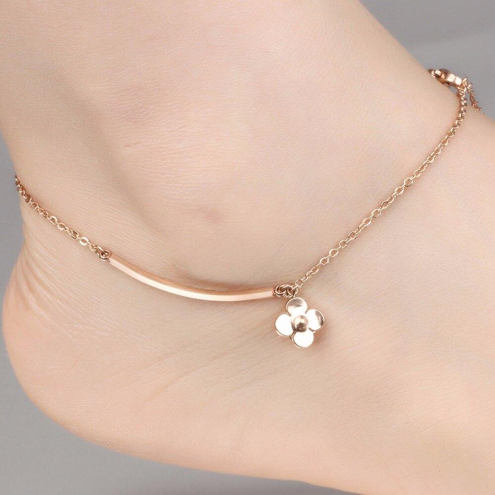 Rose Ton Or Sur Argent Sterling Zircone cubique Cercle Charme réglable Brace