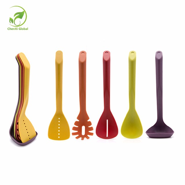 Color Boxing Non Stick Kitchen Tools Sets Eco Friendly Plastic Spatula Set Kitchen  Supplies Cooking