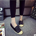 2016 new straw flat casual canvas shoes Free shipping female ventilation and comfortable student shoes