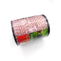 Electric Fence Wire Red White Polywire with Steel Poly Rope For Horse Animal Fencing Ultra Low Resistance Wire