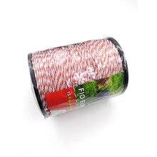 Провод для электрического ограждения красный, белый Polywire с Сталь Поли веревка для лошадей ограждение для животных Ультра низкое сопротивление провода