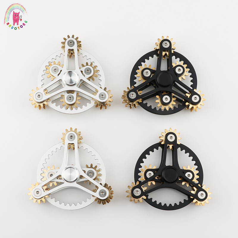 Tri-Spinner Hot Wheels Gear Teeth Linkage High-quality Metalen Fidget Spinner Hand Spinner Finger Anti Stress Adult toys 32pcs lot dhl free shipping high quality fidget toys edc hand spinner for autism and adhd anxiety stress relief toys