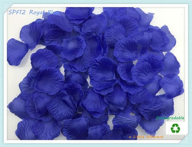 """300pcs/lot Size2""""x2""""(5x5cm) Royal Blue Silk Rose Flowers Petals Leaf  For Reception Table Bridal Shower Decoration Supplies"""
