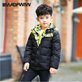 2016 Winter New Boys Down Jackets Winter Coat Fashion Solid Double-layer Hooded Outerwear Kids Outer Clothing High Quality