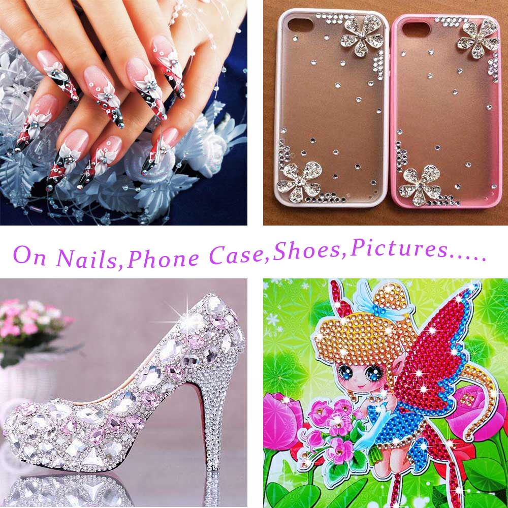 Aliexpress.com : Buy 4 Wheels 3D Nail Rhinestone Ornaments Diamond ...