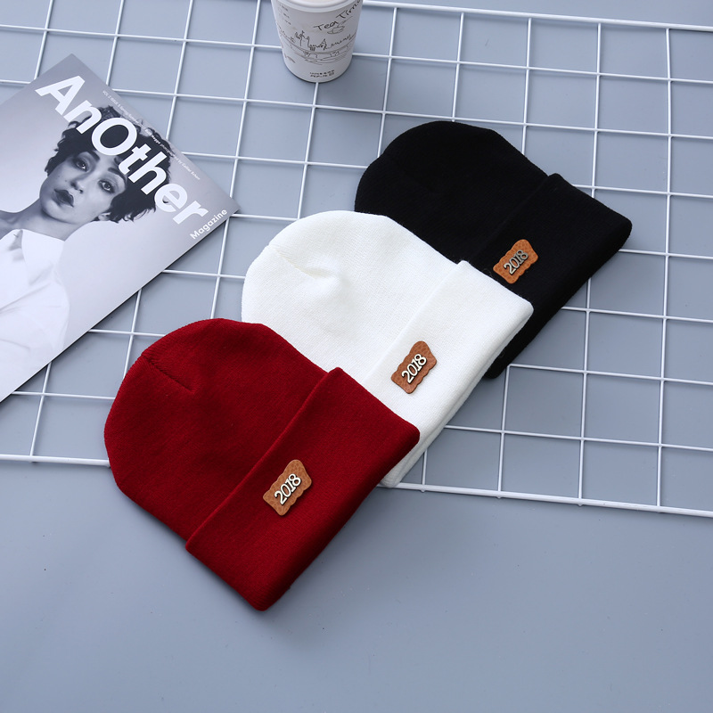 Fashion   Skullies     Beanies   Woman Hats Winter Unisex Casual Male Cap Boy Hip Hop Digital Signature Autumn Knitted Hat Female