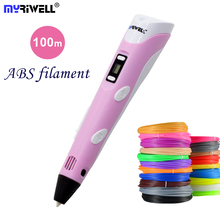 3D Pen 3D Printer Pen 3D Printing Drawing Pen With 100 Meters 20 Color ABS Filament Magic Maker Arts LIX for Student Gift