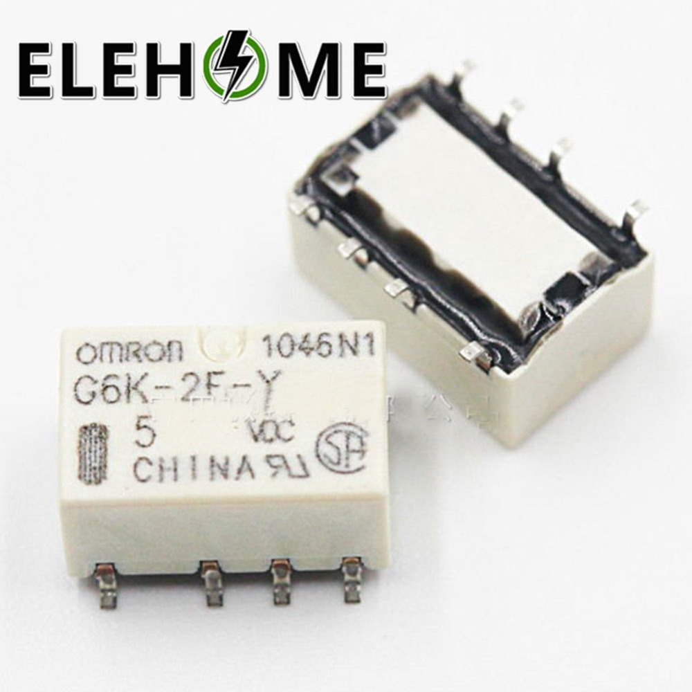 2pcs Smd G6k 2f Y Relay Signal 8pin For Omron Dc 3v 5v 8 Pin Connection 12v 24v Xf30 In Relays From Home Improvement On Alibaba Group