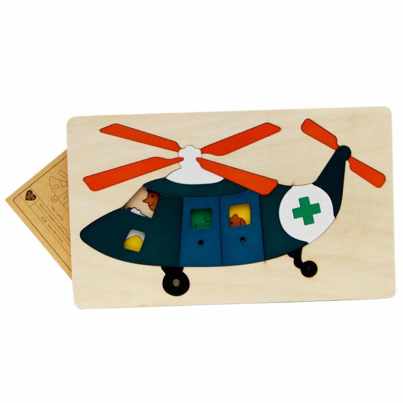 Gratis frakt barn / barn pedagogiska träleksaker multilayer tecknad - Spel och pussel - Foto 4