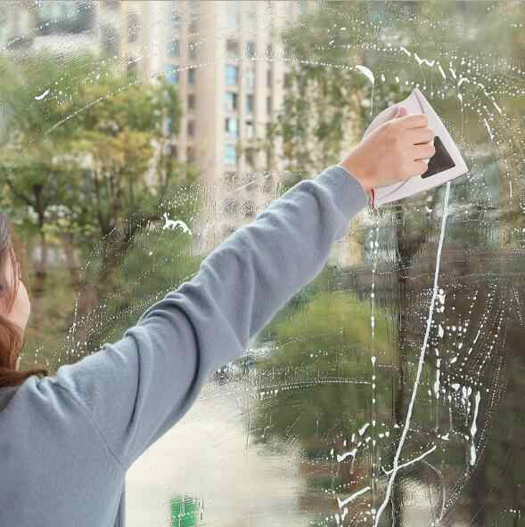 Magnetic Window Cleaner Wiper คู่แม่เหล็กแปรงสำหรับล้างทำความสะอาดหน้าต่างเครื่องมือแม่เหล็กหน้าต่างเครื่องซักผ้า