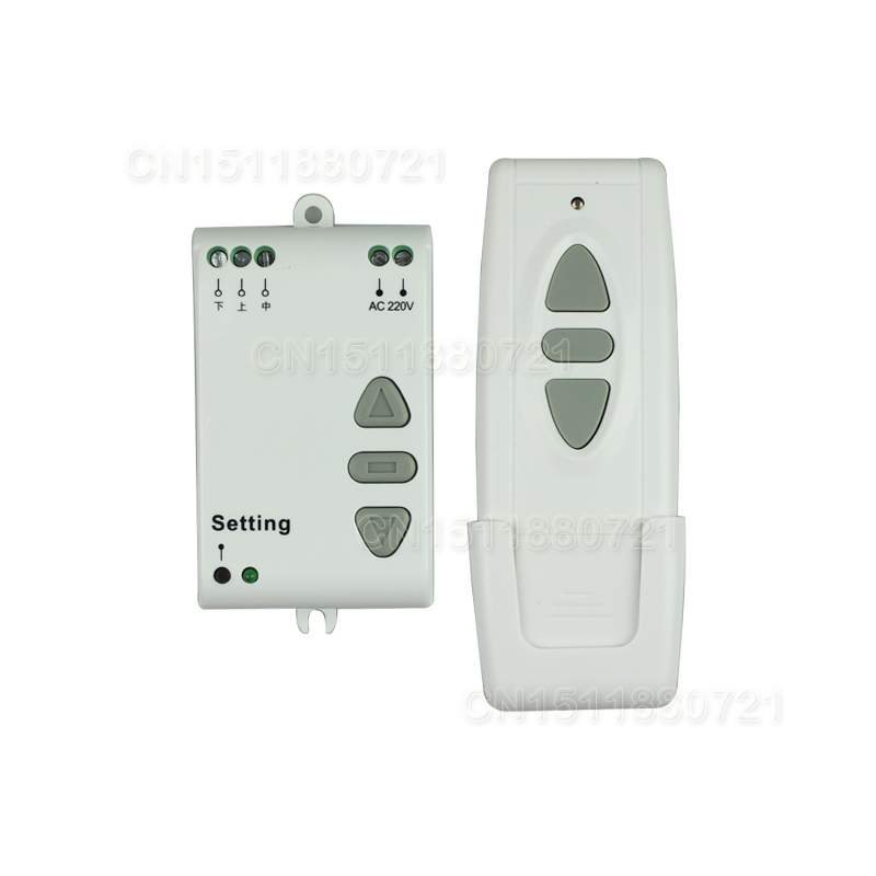 AC 220V Motor Remote Controller Wireless Remote Control Switch UP Down Stop Tubular Motor Controller Motor Forward Reverse ac 220v motor wireless remote control switch up down stop tubular motor controller motor forward reverse tx rx latched