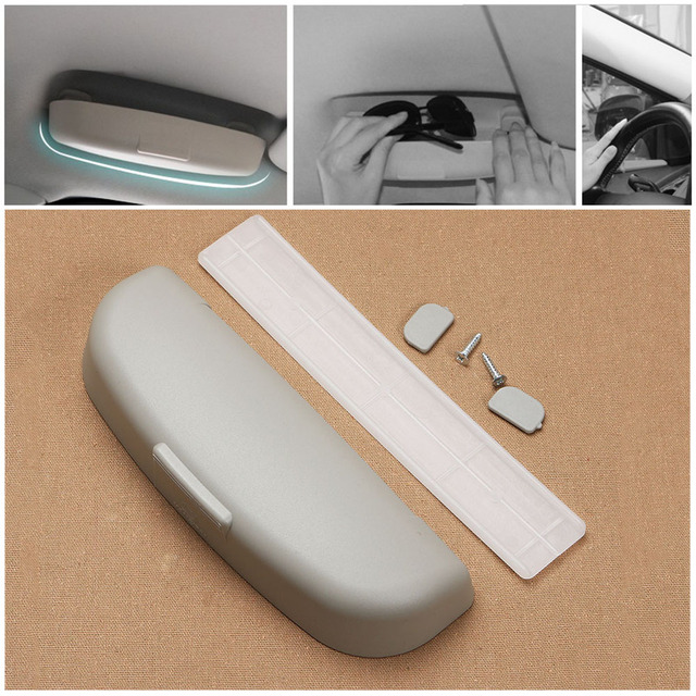 1pc New Car Sunglasses Holder Replace Door Handle Plastic Glasses Case Cage Storage Buckle Installed Box Interior Auto Accessory