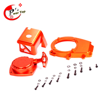 Baja Engine Cover Set with CNC Material (pull starter+cylinder cover+side cover+screws) for 1/5 hpi baja 5b parts, Free shipping
