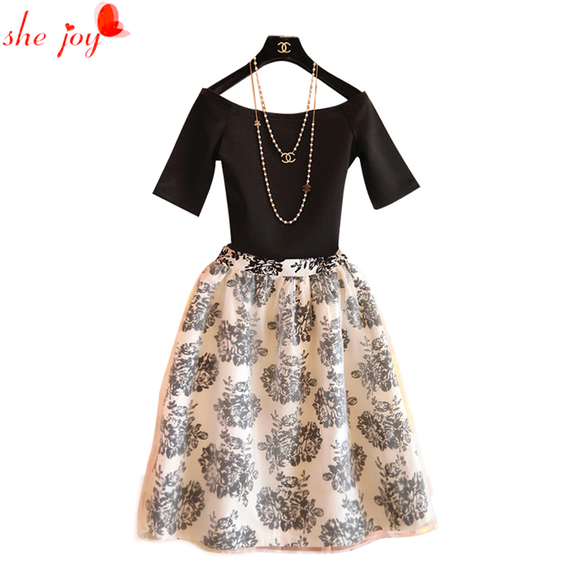 2017 new fashion vintage two pieces