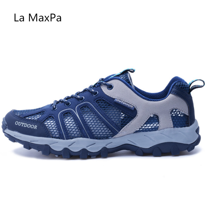 2018 new high quality Outdoor Sneakers Men Sport Shoes Woman Running shoes woman Trainers Anti-skid Off-road Walking size 35-46 2018 outdoor sport shoes men sneakers man brand running shoes breathable anti skid off road jogging trainers walking athletic