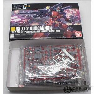 Image 4 - Bandai HGUC 190 1/144 Guncannon RX 77 2 OHS Reviver Mobile Suit Kits Modelo de Montagem