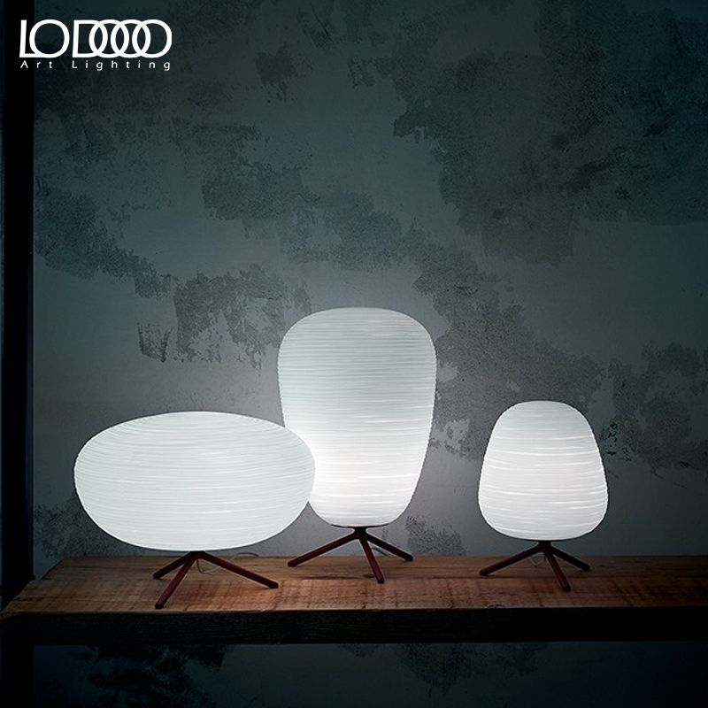 LODOOO E27 Modern Table Lamp For Living Room Contemporary Desk Lamp Bedside Lamp LED Decorative Glass  Table Lamp