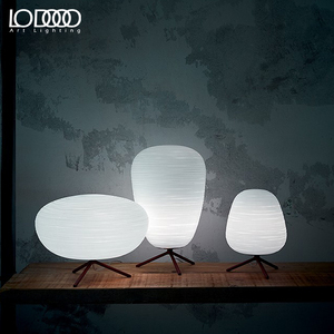 Image 1 - LODOOO E27 Modern Table Lamp For Living Room Contemporary Desk Lamp Bedside Lamp LED Decorative Glass  table lamp