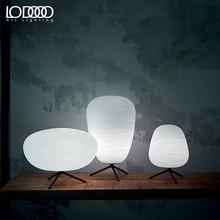 LODOOO E27 Moderne Tafellamp Voor Woonkamer Hedendaagse Bureaulamp Bedlampje LED Decoratieve Glazen tafellamp