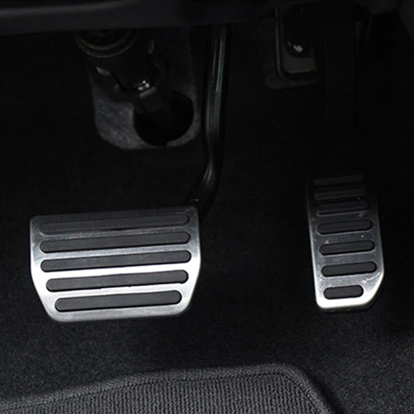 stainless steel gas fuel brake pedal pads mats cover for. Black Bedroom Furniture Sets. Home Design Ideas