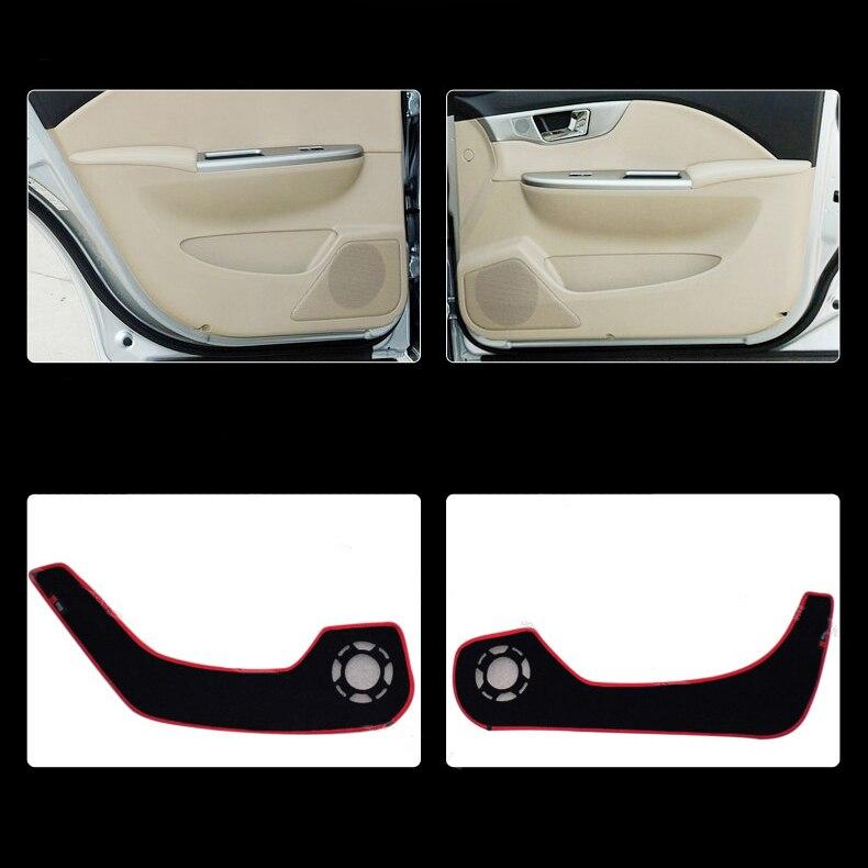Ipoboo 4pcs Fabric Door Protection Mats Anti-kick Decorative Pads For Buick Excelle 2008-2015 ipoboo 4pcs fabric door protection mats anti kick decorative pads for hyundai elantra 2012 2015