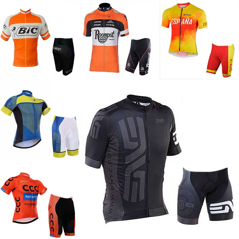 Hot NEW Cycling Jersey Anti UV Short Sleeve Set High quality 9D Gel pad Cool Design Ropa Ciclismo Mountain bike man clothing
