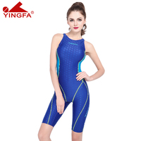 Free shipping High quality Yingfa female training swimwear one piece professional swimsuit Swimming competition Swim competition
