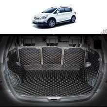 Lsrtw2017 Leather Car Trunk Mat Cargo Liner for Toyota Verso 2009 2010 2011 2012 2013 2014 2015 2016 2017 2018 Sportsvan Carpet