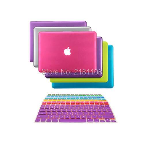 2 In1 Rubberized Hard Case Keyboard Skin Cover For Macbook White 13