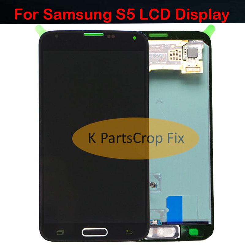 AMOLED For Samsung S5 LCD G900F Display LCD Screen Touch Digitizer Assembly Compatible for Samsung Galaxy