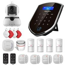 Wolf-Guard Wireless Home Alarm Security Burglar System GSM 2.4G WIFI Host 720P IP Camera Door/PIR/Smoke Motion Detector