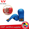 Wesing free shiping WKF APPROVED pu karate gloves boxing gloves karate mitt for competetione  blue and red