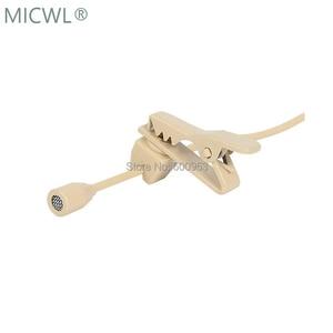 Image 3 - Hohe Qualität Omnidirektionale Beige Krawatte Clip Revers Lavalier Mikrofon Mic für Audio Technica Sennheise Shure MiPro Kostenloser Versand