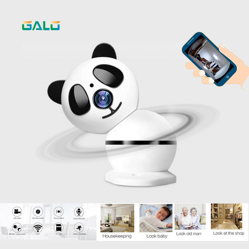 Panda Home Security IP Camera Wi-Fi Wireless Mini Network Camera Surveillance Wifi 720P Night Vision CCTV Camera Baby Monitor home security ip camera wireless smart wifi camera wi fi audio record surveillance hd mini cctv camera night vision network 2pcs