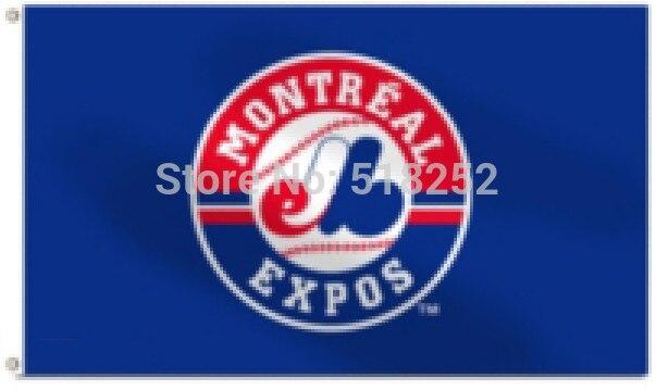 MLB Expos de Montreal bandera 3x5 ft 150x90 cm banner 100D poliéster  bandera 1023 b83c3d87fe8
