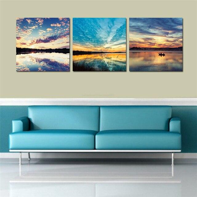 incroyable impression toile paysage pour salon mur moderne peintures mur photos tableau peinture. Black Bedroom Furniture Sets. Home Design Ideas