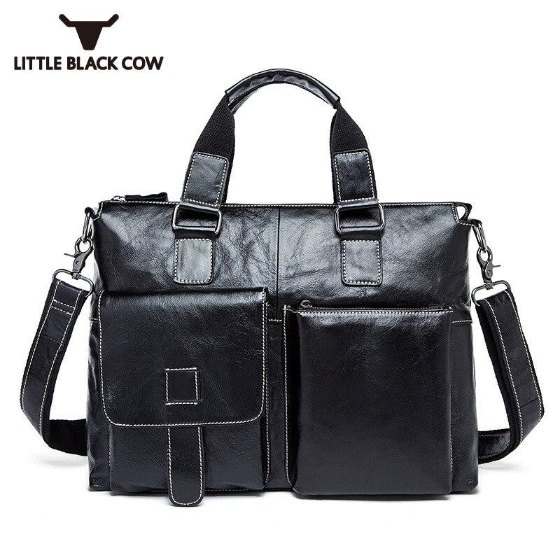 British Classic Men Business Handbag High Quality Leather Tote Satchel Bag Office Work Crossbody Bags Male Sling Shoulder Bolsa
