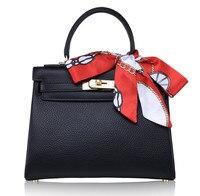 Luxury Brand Designer Women Handbag Genuine Leather Top Handle Tote Bag with lock