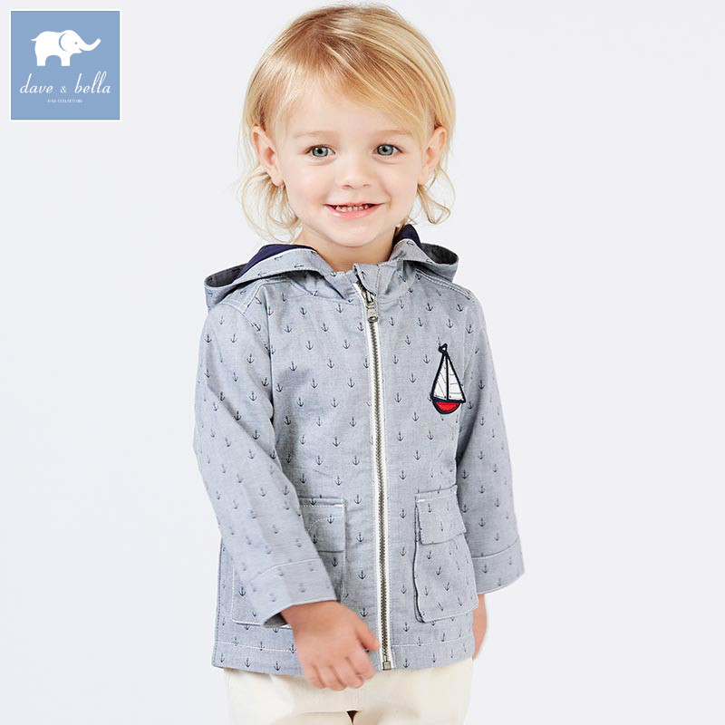 DBA6389 dave bella spring infant baby boys fashion print hooded coat kids toddler children hight quality clothes db6124 dave bella autumn infant baby boys girls coat fashion clothes toddler boys print hooded coats children high quality