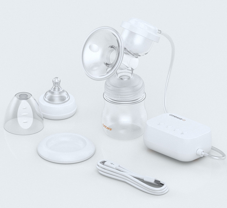 Cmbear fashion Style Smart Electric Breast Pump Powerful Nipple Suction infantil USB breast pump with baby milk bottle