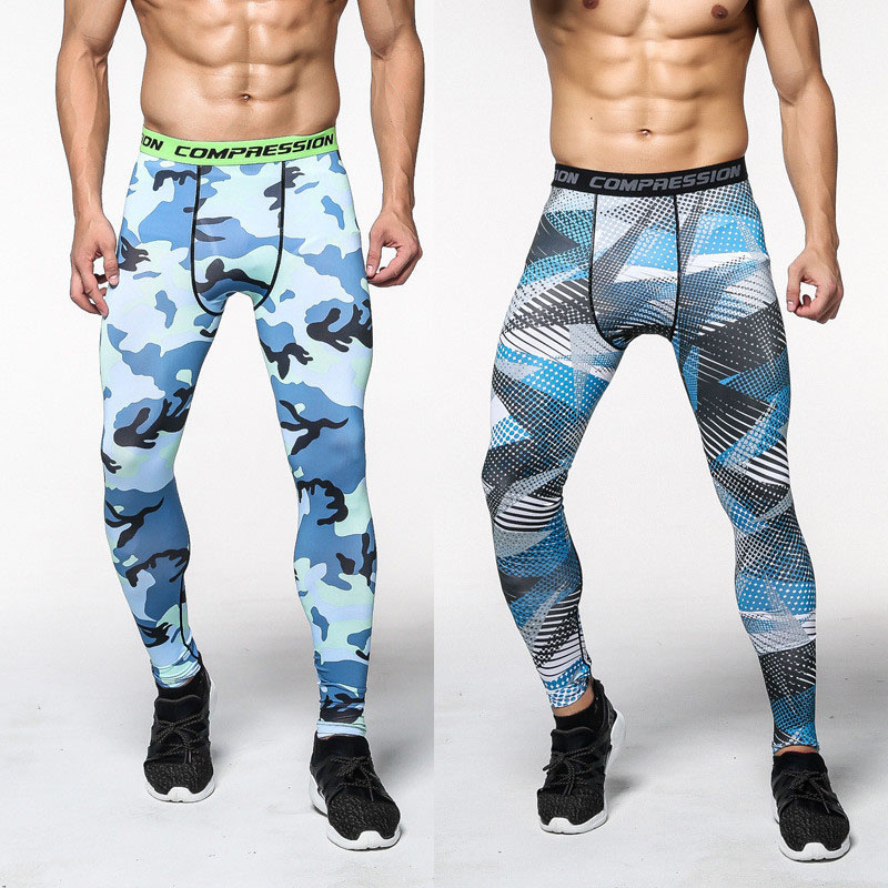 2017 mens compression pants thermal underwear MMA rash guard bodybuilding mens pants camouflage tights for men base layer