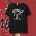 SlamDunk T-shirt Hanamichi Sakuragi Cosplay No.10 No.14  Costume Anime SLAM DUNK T shirt Short Sleeve Tees