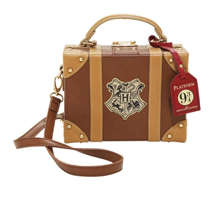 movie Harry James Potter Hogwarts Platform Trunk Cosplay Props Crossbody Handbag Bag Purse Parts