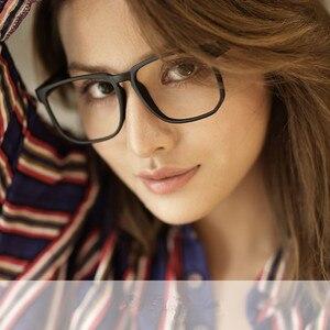 Image 3 - Posesion Vierkante Acetata Grote Mannen Brillen Frames Vintage Houten Grote Gezicht Vrouwen Bijziend Optische Glazen Clear Lens Eyewear