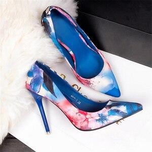 Image 5 - JIANBUDAN גבוהה העקב נשים של עסקים משרד נעליים באיכות גבוהה עור מפוצל סקסי נקבה משאבות רדוד מחודדת הבוהן נעלי נשים