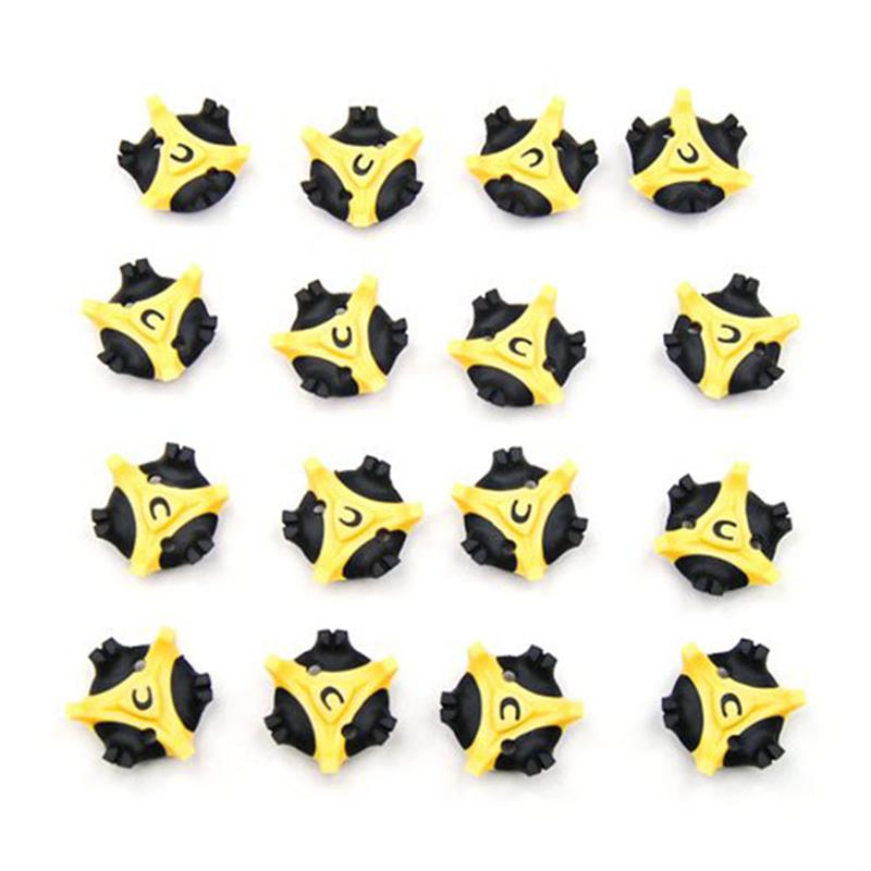 16pcs Golf Cleats Shoes Spikes Stinger (Yellow)