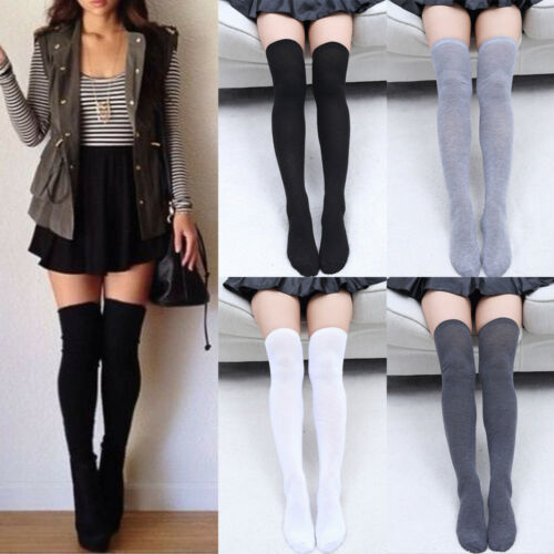 2019 Women Girl Classic Colors Stripe Stripy Striped Over The Knee Thigh High Stockings Cotton Warm